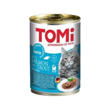 Консервы для кошек Tomi, лосось и форель, 400г