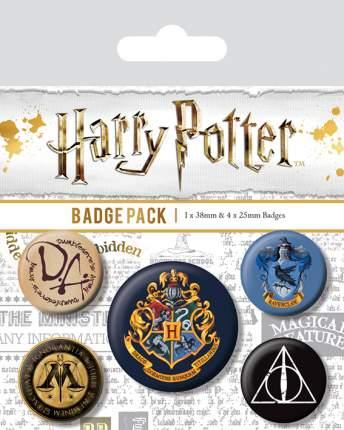 Набор значков Pyramid Harry Potter - Hogwarts (5 шт) BP80485