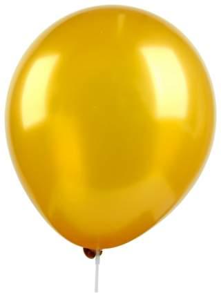 """Шар латексный 14"""", металл, набор 25 шт., цвет золотой GLOBOS FESTIVAL S.A."""