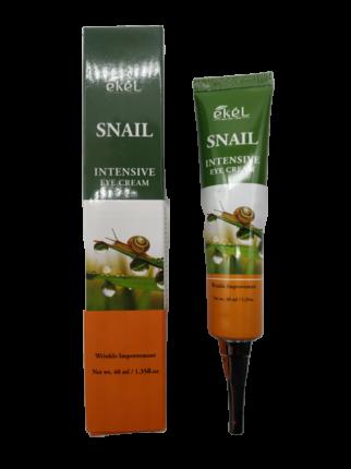 Крем для кожи вокруг глаз с муцином улитки туба Ekel Snail Intensive Eye Cream tube 40 мл