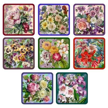 Прихватка «Купеческие цветы», 17х17 см