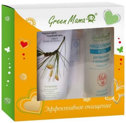 Набор средств по уходу за лицом Green Mama Эффективное очищение Effective cleansing Set