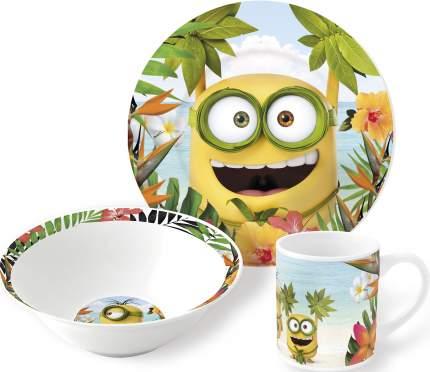 Набор посуды керамической Stor в подарочной упаковке Миньоны Рай, 74965