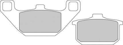 Тормозные колодки передние/задние Ferodo FDB339P для мотоциклов