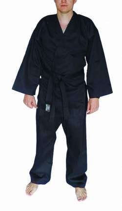 Кимоно Atemi AKRB01 черное, XXL, 170 см