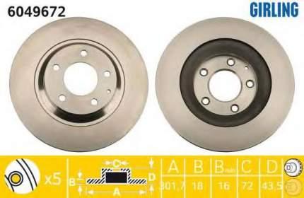 Тормозной диск GIRLING 6049672