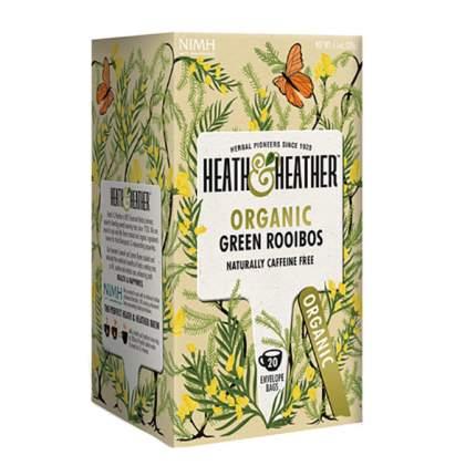 Чай зеленый Heath and Heather ройбуш органик 20 пакетиков