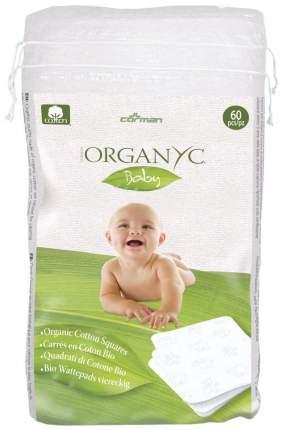 Детские ватные подушечки Corman Organyc Sweet Caress Baby Cotton Nursing Pads, 60 шт.
