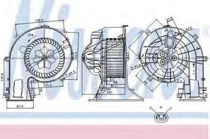 Мотор отопителя Nissens 87025