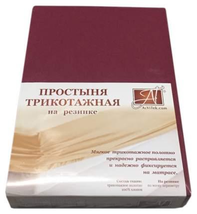 Простыня АльВиТек ПТР-МАР-160 цвет Бордовый