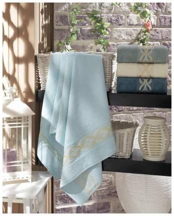Набор полотенец DO&CO lilium белый, голубой, серый, синий
