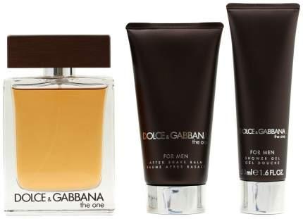 Набор Dolce & Gabbana The One Туалетная вода+бальзам после бритья+гель д. душа 100+50+50мл