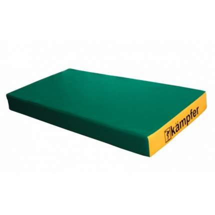 Детский спортивный мат Kampfer №1 (100 x 50 x 10 см) зелено-желтый
