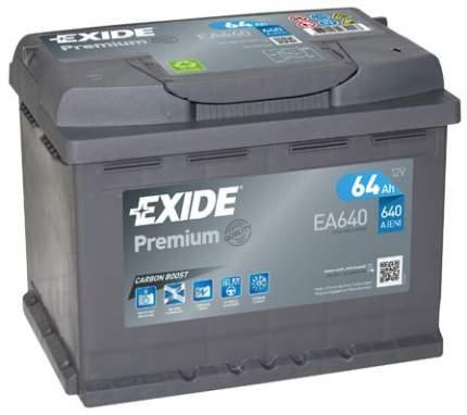 Аккумулятор автомобильный EXIDE EA640 64 Ач