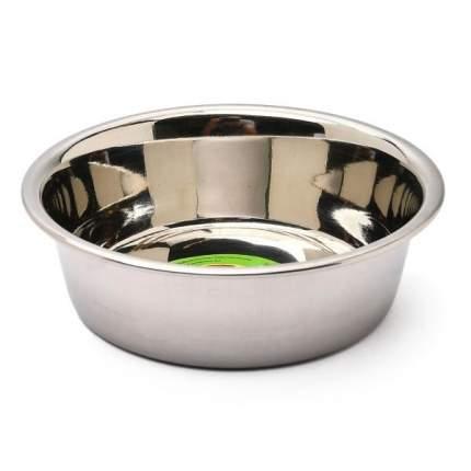 Одинарная миска для кошек и собак Ankur, металл, серебристый, 0.25 л