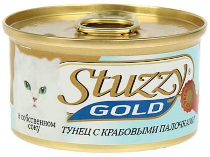 Консервы для кошек Stuzzy Gold, тунец, кальмар, 85г