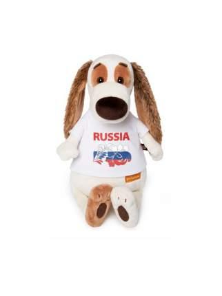 Мягкая игрушка BUDI BASA Бартоломей в футболке с принтом Россия 33 см