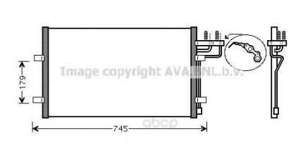 Радиатор кондиционера Ava для Ford Focus II, C-max 1.6-2.0, 1.6-2.0td 2004- FDA5367