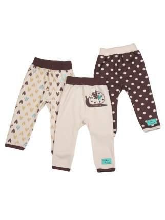 Комплект брюк 3 шт Lucky Child Коричневый р.80