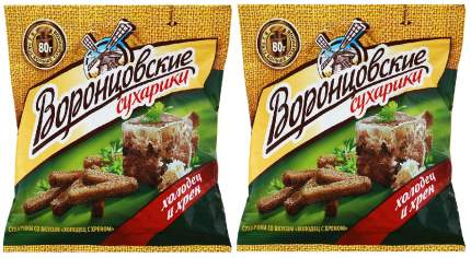 Сухарики Воронцовские холодец с хреном 80 г 2 штуки