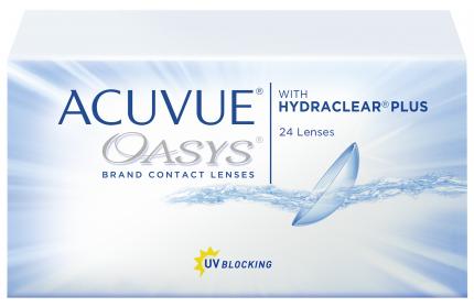 Контактные линзы Acuvue Oasys with Hydraclear Plus 24 линзы R 8,4 -2,50