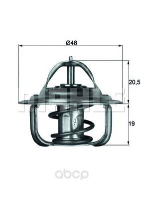 Термостат с прокл ford focus/fiesta/fusion 1.4/1.6 16v 98 Mahle TX179D