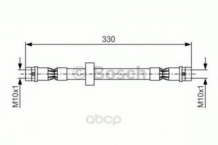 Шланг тормозной Bosch 1987476410
