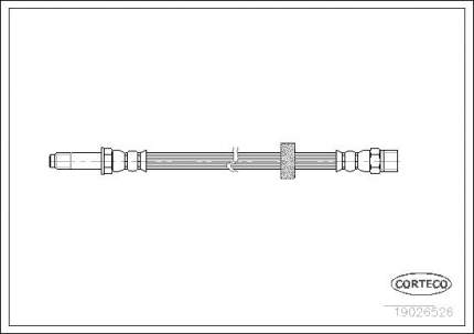 Шланг тормозной CORTECO 19026526