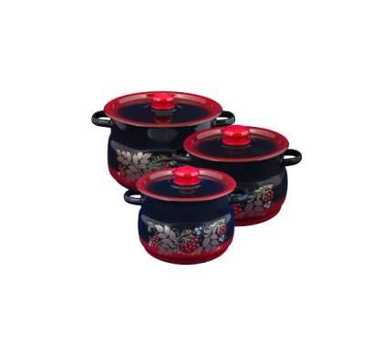 Набор кастрюль Сибирские товары Рябинка MC-60065688 Красный; черный