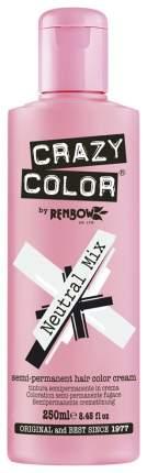 Краска для волос Crazy Color Semi-Permanent Hair Color Cream Нейтральный микс 250 мл