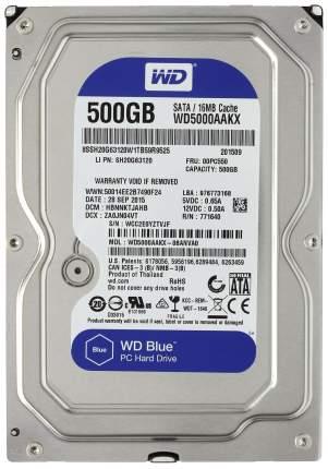 Внутренний жесткий диск Western Digital Caviar Blue 500GB (WD5000AAKX)