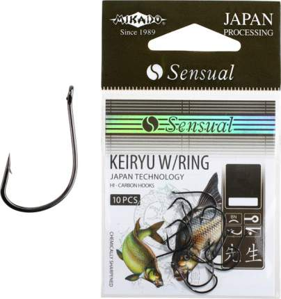 Рыболовные крючки Mikado Sensual Keiryu W/Ring №10, 10 шт.