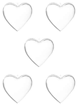 Набор елочных игрушек Snowmen Сердце из двух половинок Е94772 Прозрачный