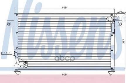 Радиатор кондиционера Nissens 94784