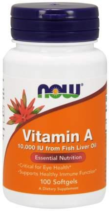 Витамин A NOW 10000 Iu 100 гелевых капсул