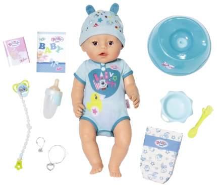 Интерактивная Кукла Baby born мальчик 43 см Zapf Creation 824-375