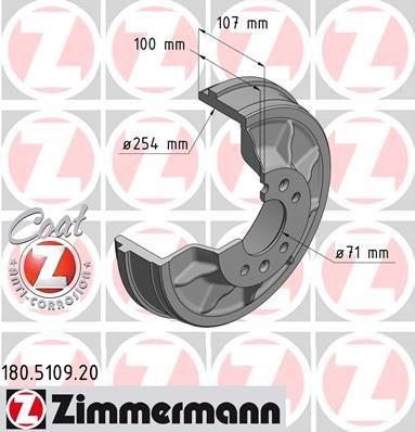Тормозной барабан ZIMMERMANN 180.5109.20