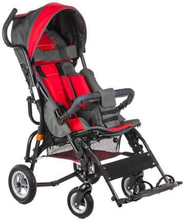 Кресло-коляска Meyra Optimus для детей ДЦП красный-серый цельнолитые