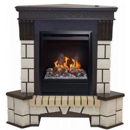 Прочный каминный комплект Real-Flame Stone Corner new STD/EUG/VL с очагом 3D Olympic