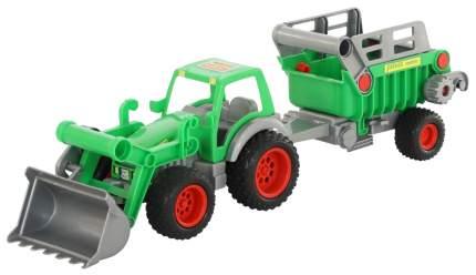 Фермер-техник Wader трактор-погрузчик с полуприцепом №2