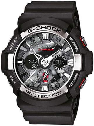 Японские наручные часы Casio G-Shock GA-200-1A с хронографом