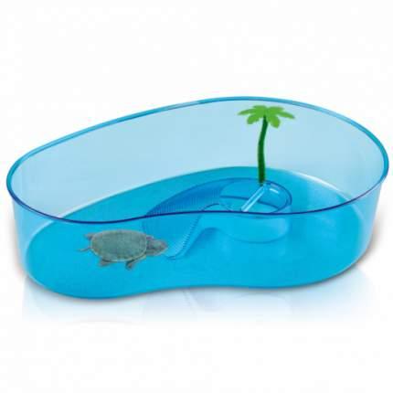 Бассейн для черепах IMAC Virgola пластиковый, фигурный, 40 х 27 х 9 см