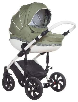 Коляска 3 в 1 Tutis Mimi Style 337-4 оливковый, цветочный принт, колеса Real Gel
