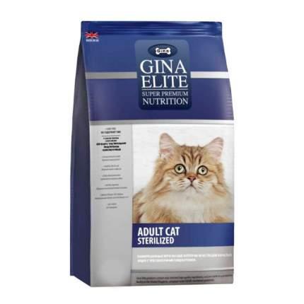 Сухой корм для кошек Gina Elite Sterelized, для стерилизованных, домашняя птица, 18кг