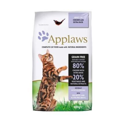 Сухой корм для кошек Applaws, беззерновой, курица, утка, овощи, 0,4кг