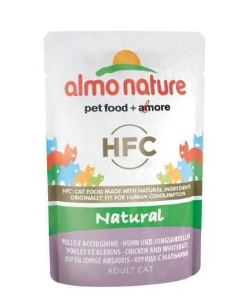 Влажный корм для кошек Almo Nature HFC Natural, курица, рыба, 24шт, 55г
