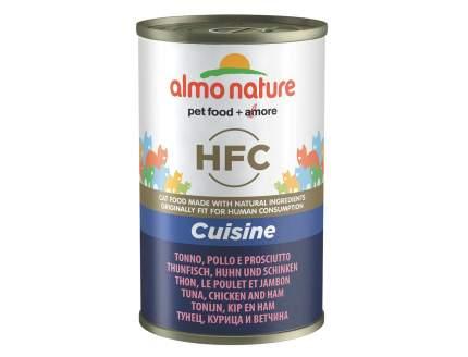 Консервы для кошек Almo Nature HFC Cuisine, тунец, курица и ветчина, 140г