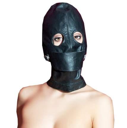 Маска-шлем ToyFa кожаная с прорезями для глаз черный