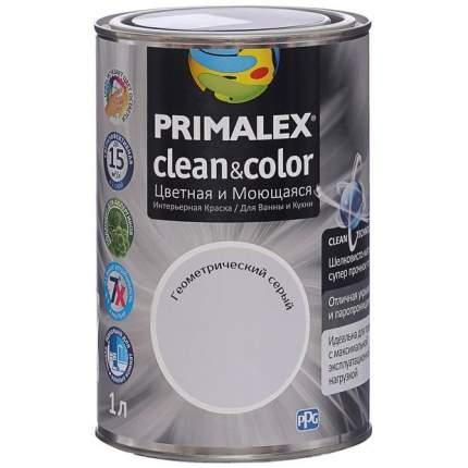 Краска для внутренних работ Primalex Clean&Color 1л Геометр Серый, 420204