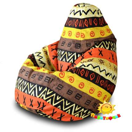 Кресло-мешок Pazitif Груша Пазитифчик Африкан 05, размер XXL, жаккард, разноцветный